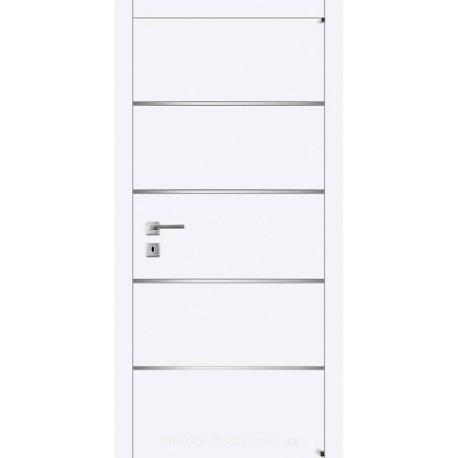 Двері Авангард Style А7.M біле з молдингом