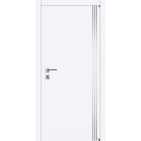 Двери Авангард Style А7.3.M белое с молдингом