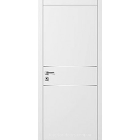 Двери Авангард Style А6.2.M белое с молдингом