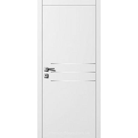 Двері Авангард Style А6.4.M біле з молдингом