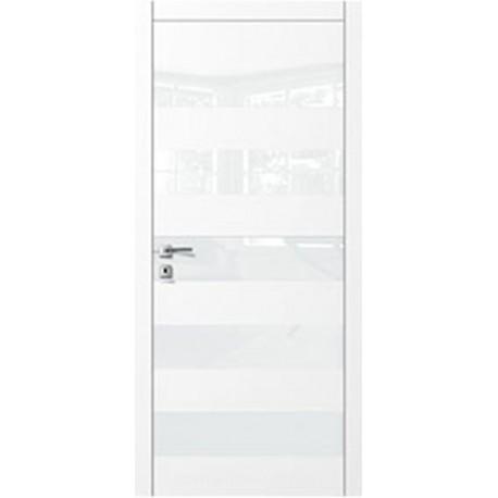 Двери Авангард Style А5.S белое со стеклом Лакобель