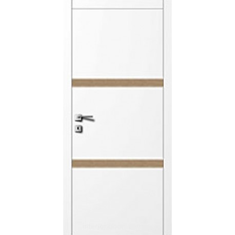 Двери Авангард Style А5.6.L белое со вставкой шпон