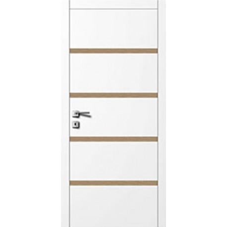 Двері Авангард Style А5.8.L біле зі вставкою шпон