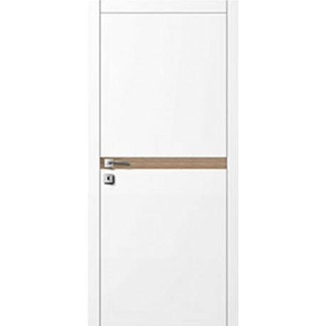 Двери Авангард Style А5.9.L белое со вставкой шпон