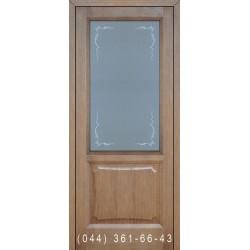 Двери Подольские Ника мокко со стеклом (матовое) + рис.