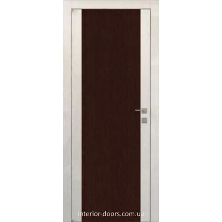 Двері Авангард Style А4.L шовковистий мат зі вставкою шпон