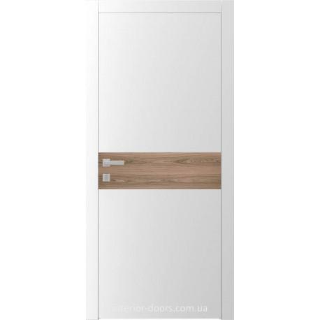 Двері Авангард Style А2.L шовковистий мат зі вставкою шпон