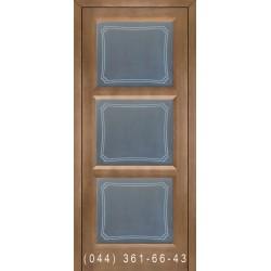 Двері Подільські Даяна мокко зі склом (матове) + рис.