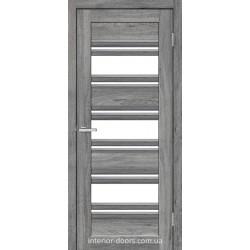 Двері Dora 03 G Оміс дуб Юджин зі склом (сатин матовий)