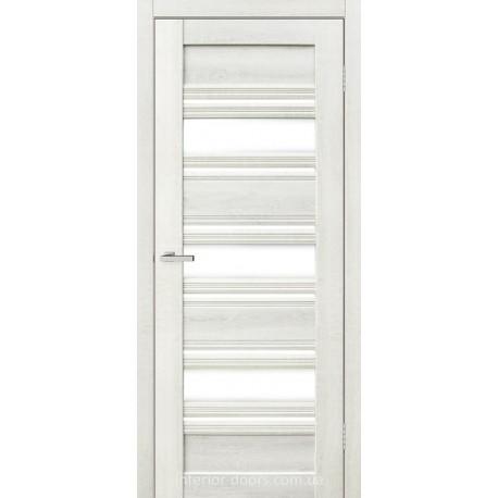 Двері Dora 03 G Оміс дуб білий зі склом (сатин матовий)