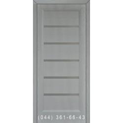 Двери Подольские Горизонталь 1 дуб белый со стеклом (сатин матовый)