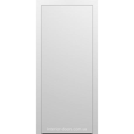 Двери межкомнатные Брама 8.01 белая меламиновая эмаль глухие
