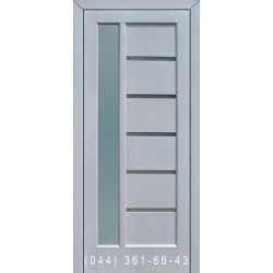 Двери Подольские Твинс дуб белый со стеклом (сатин матовый)
