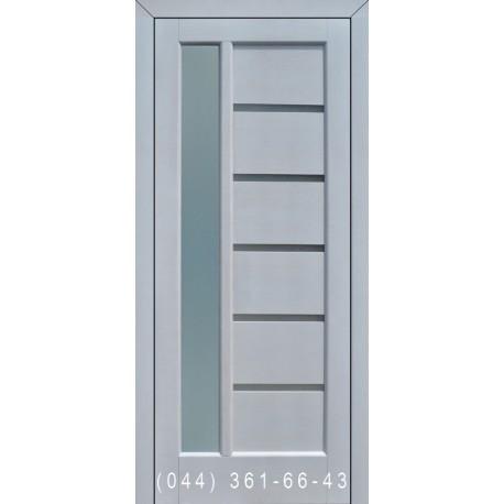 Двері Подільські Твінс дуб білий зі склом (сатин матовий)