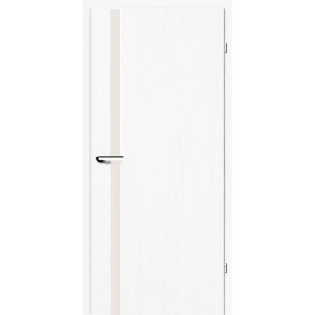 Двери Брама 2.71 белый со стеклом (триплекс)