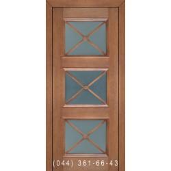 Двери Подольские Оливия орех золотой со стеклом (сатин матовый)