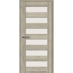 Двері Брама 18.46 горіх сірий зі склом (сатин матовий)