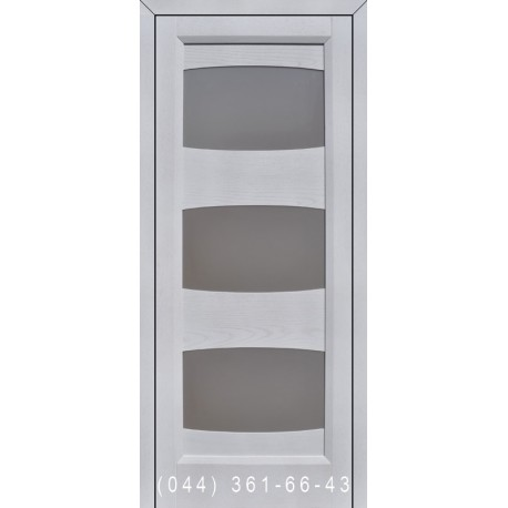 Двери Подольские Торонто дуб белый со стеклом (сатин матовый)