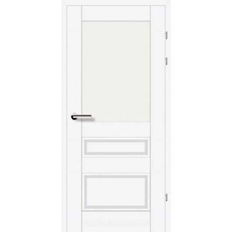 Двері Брама 18.51 білий преміум зі склом (сатин матовий)