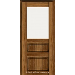 Двері Брама 18.51 дуб катана зі склом (сатин матовий)