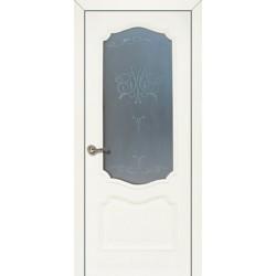 Двері Подільські Оскар дуб пастель зі склом (сатин матовий)