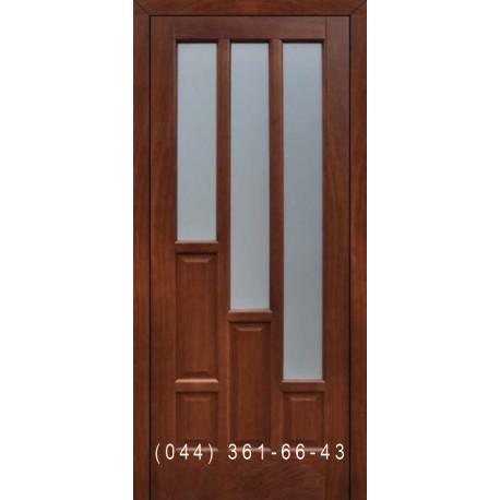 Двери Подольские Орлеан орех золотой со стеклом (сатин матовый)