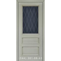 Двери Подольские Тифани песочная патина со стеклом (матовое) + рис.
