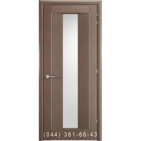 Двері Vivo Porte Неаполь 20(42).13 дуб димчатий зі склом (сатин матовий)
