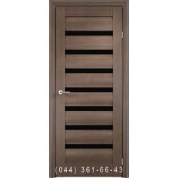 Двери Vivo Porte Неаполь 20(42).37 дуб дымчатый со стеклом (черное)