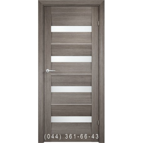 Двери AV-PORTE 01.07 бианко со стеклом (сатин матовый)