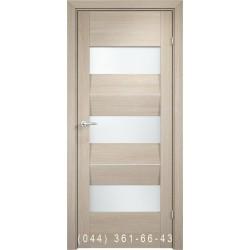 Двери AV-PORTE 01.09 крема со стеклом (сатин матовый)