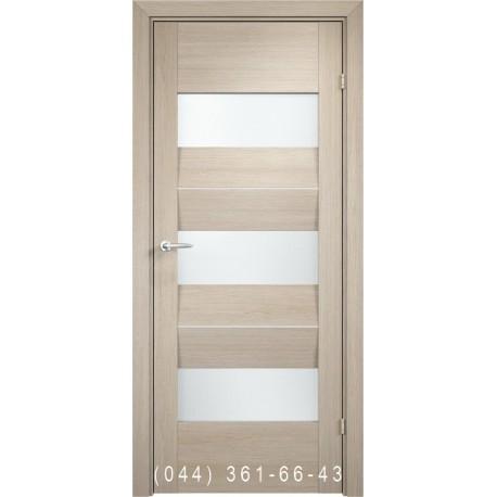 Двері AV-PORTE 01.09 крема зі склом (сатин матовий)