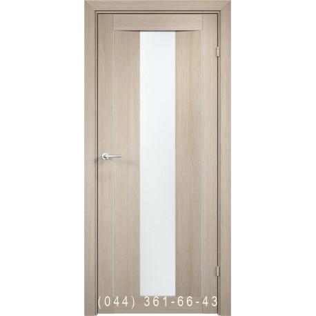 Двери AV-PORTE 01.13 крема со стеклом (сатин матовый)