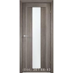 Двері AV-PORTE 01.13 грей зі склом (сатин матовий)