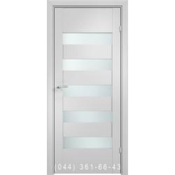 Двері AV-PORTE 01.24 білий матовий зі склом (сатин матовий)