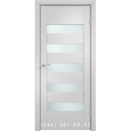 Двери AV-PORTE 01.24 белый матовый со стеклом (сатин матовый)