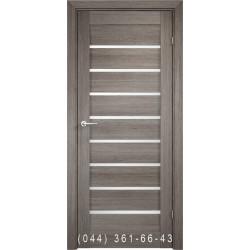 Двери AV-PORTE 01.27 грей со стеклом (сатин матовый)