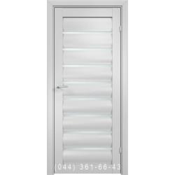 Двері AV-PORTE 01.36 білий матовий зі склом (сатин матовий)