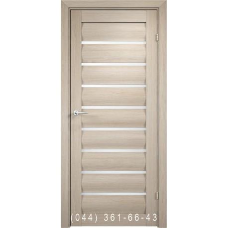 Двери AV-PORTE 01.36 крема со стеклом (сатин матовый)