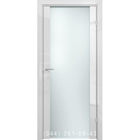 Двери AV-PORTE 01.99 белый глянец со стеклом (сатин матовый)