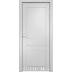 Двери AV-PORTE 01.97 белый матовый со стеклом (сатин матовый)