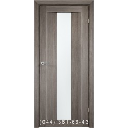 Двери AV-PRIME 87.13 дуб серый со стеклом (сатин матовый)