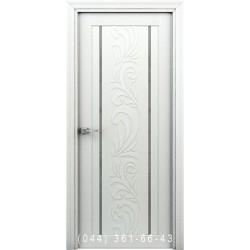 Интерьерные Двери Весна белый глухое + декор (пластик)