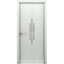 Інтер'єрні Двері Сафарі білий глухе + декор (пластик)