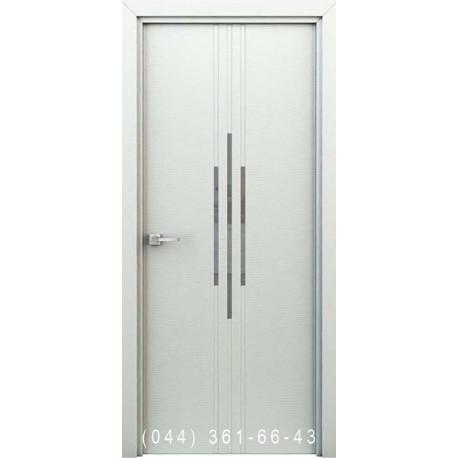 Интерьерные Двери Сафари белый глухое + декор (пластик)