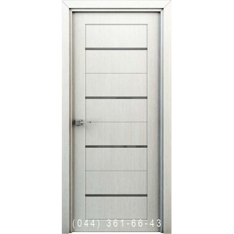Інтер'єрні Двері Оріон перламутр глухе + декор (пластик)