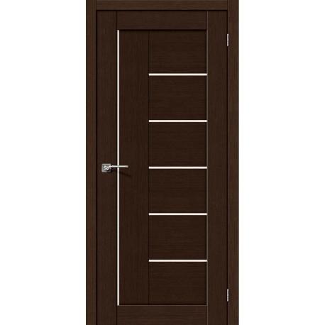 Интерьерные Двери Порта 29 венге со стеклом (сатин матовый)