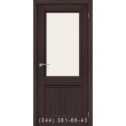 Интерьерные Двери Порта 63 капучино со стеклом (сатин матовый)