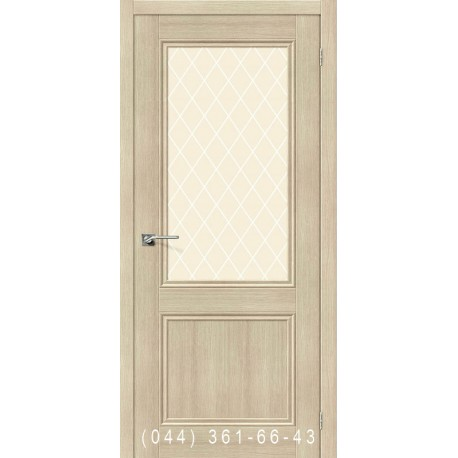 Интерьерные Двери Порта 63 венге со стеклом (сатин матовый)
