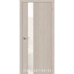 Інтер'єрні Двері Порта 51 капучино зі склом (сатин матовий)